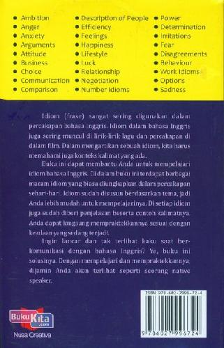Cover Belakang Buku Superfresh Kamus Idiom Bahasa Inggris