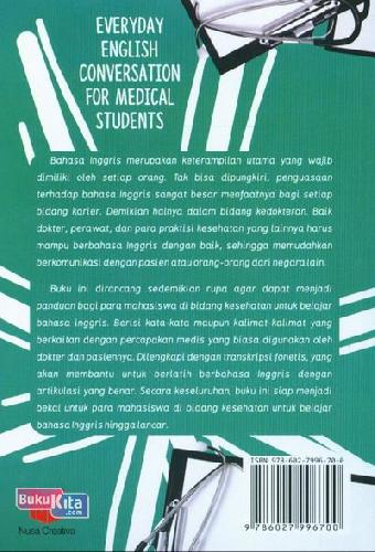 Cover Belakang Buku Everyday English Conversation For Medical Students