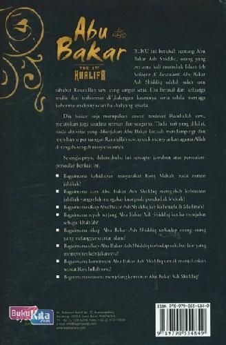 Cover Belakang Buku Abu Bakar The 1st Khalifa