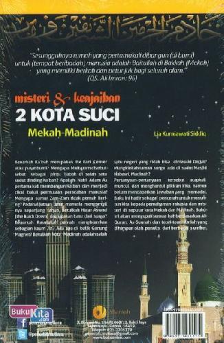 Cover Belakang Buku Misteri & Keajaiban 2 Kota Suci Mekah-Madinah