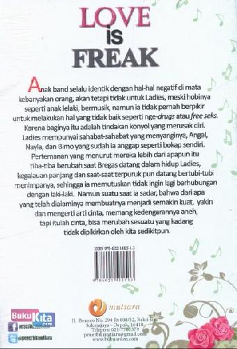Cover Belakang Buku LOVE is FREAK