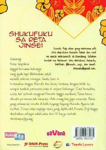Cover Belakang Buku Shukufuku Sa Reta Jinsel : Kita Ada Untuk Melengkapi Satu Sama Lain