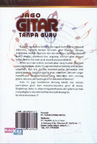 Cover Belakang Buku Jago Gitar Tanpa Guru