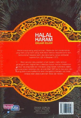 Cover Belakang Buku Halal Haram Dalam Islam