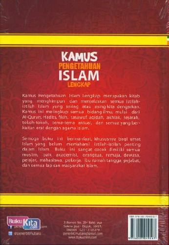 Cover Belakang Buku Kamus Pengetahuan Islam Lengkap Mencakup Semua Bidang Ilmu