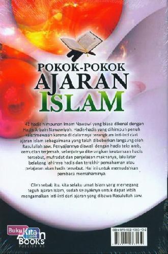 Cover Belakang Buku Pokok-Pokok Ajaran Islam