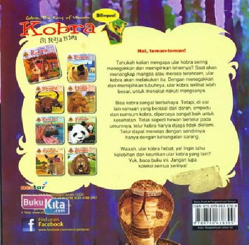 Cover Belakang Buku Kobra Si Raja Bisa