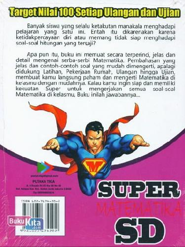 Cover Belakang Buku Super Matematika SD Kelas 1