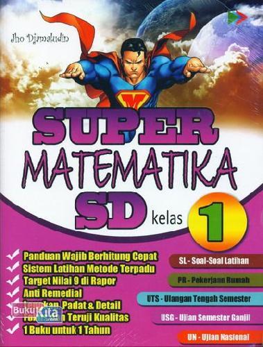 Cover Buku Super Matematika SD Kelas 1