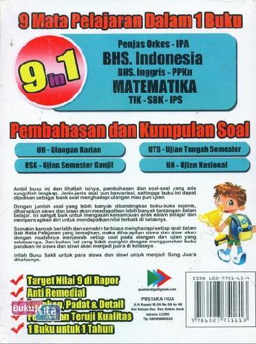 Cover Belakang Buku BUKU SAKTI SANG JUARA KELAS 6 SD