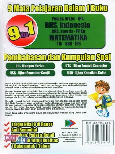 Cover Belakang Buku BUKU SAKTI SANG JUARA KELAS 5 SD