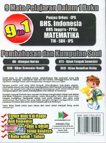 Cover Belakang Buku BUKU SAKTI SANG JUARA KELAS 4 SD