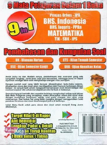 Cover Belakang Buku BUKU SAKTI SANG JUARA KELAS 1 SD