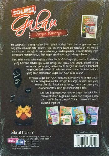 Cover Belakang Buku Solusi Galau dengan Keluarga