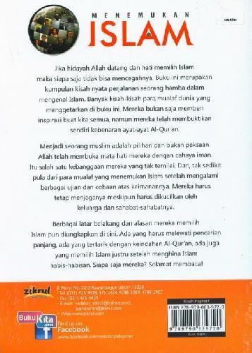 Cover Belakang Buku Menemukan Islam