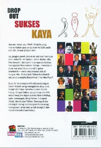 Cover Belakang Buku Drop Out Sukses Kaya