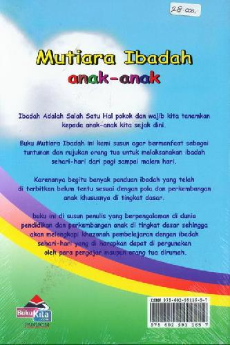 Cover Belakang Buku Mutiara Ibadah Anak-Anak