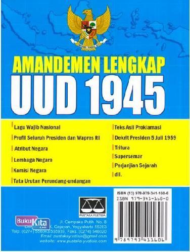 Cover Belakang Buku Amandemen Lengkap UUD 1945