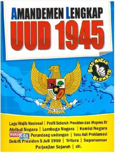 Cover Buku Amandemen Lengkap UUD 1945