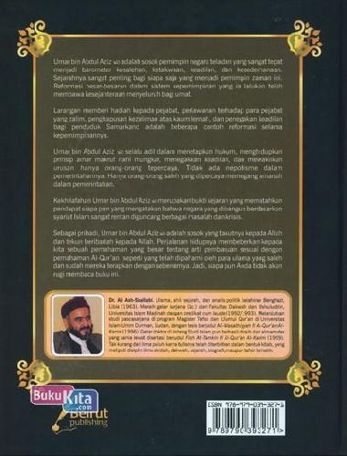 Cover Belakang Buku Biografi Umar Bin Abdul Aziz