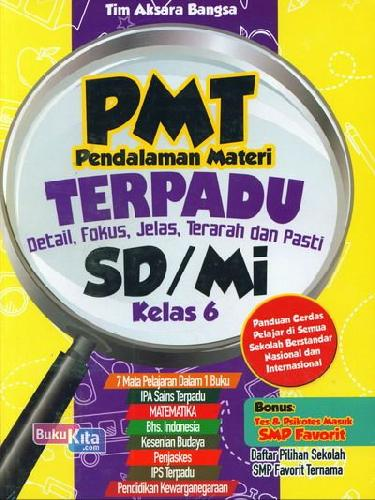 Cover Buku PMT Pendalaman Materi Terpadu SD/Mi Kelas 6