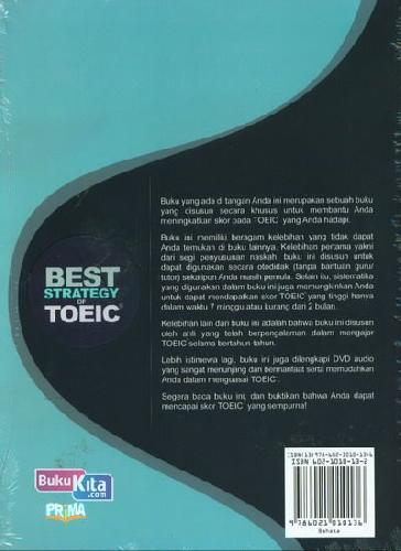 Cover Belakang Buku Best Strategy Of Toeic+Cd