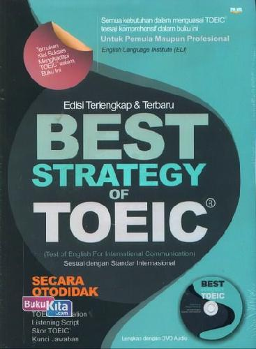 Cover Buku Best Strategy Of Toeic+Cd