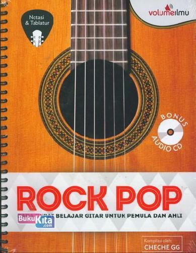 Cover Buku Rock Pop+Cd: Cara Cepat Belajar Gitar Untuk Pemula&Ahli