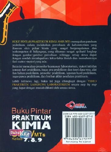 Cover Belakang Buku Buku Pintar Praktikum Kimia SMP/MTs Kelas 7,8,9