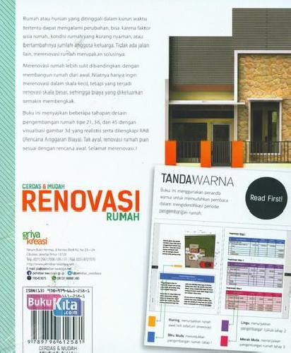 Cover Belakang Buku Cerdas & Mudah Renovasi Untuk Rumah Tipe 21,36,45