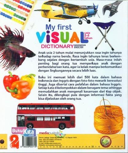 Cover Buku My First Visual Dictionary (Indonesia-English)