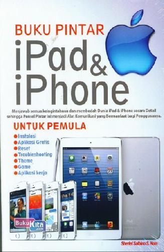 Cover Buku Buku Pintar iPad & iPhone Untuk Pemula