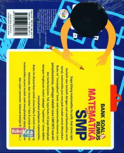 Cover Belakang Buku Bank Soal & Rumus Matematika untuk SMP