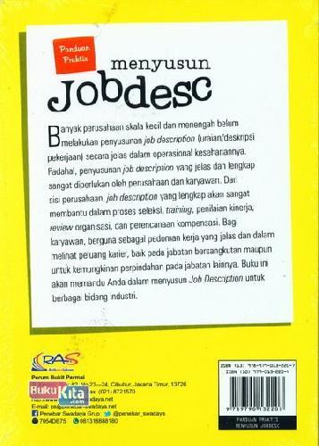 Cover Belakang Buku Panduan Praktis Menyusun Jobdesc