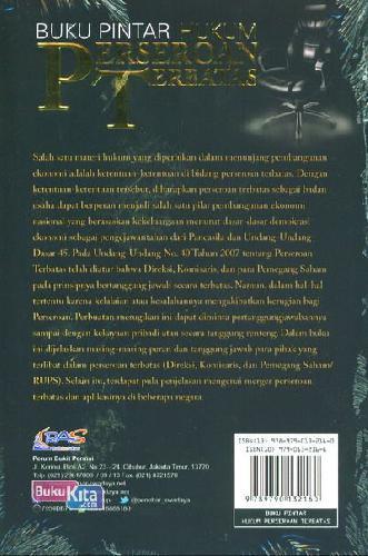Cover Belakang Buku Buku Pintar Hukum Perseroan Terbatas