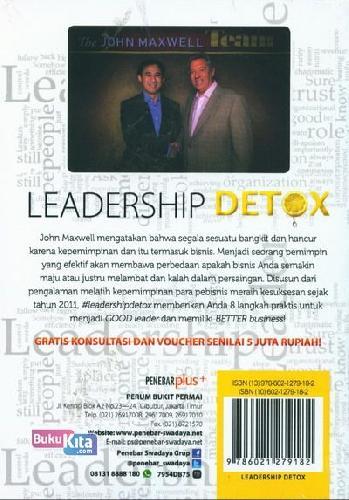 Cover Belakang Buku Leadership Detox
