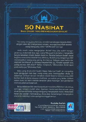 Cover Belakang Buku 50 Nasihat Bagi Orang Yang Meninggalkan Shalat