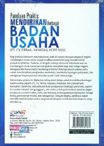 Cover Belakang Buku Panduan Praktis Mendirikan Berbagai Badan Usaha