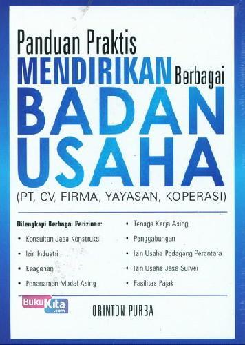 Cover Buku Panduan Praktis Mendirikan Berbagai Badan Usaha