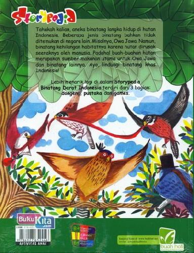 Cover Belakang Buku Storypedia Binatang Darat Indonesia