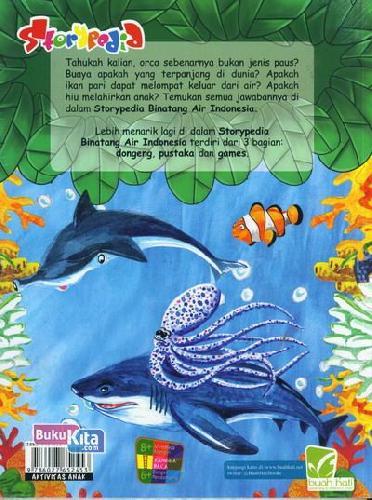 Cover Belakang Buku Storypedia Binatang Air Indonesia