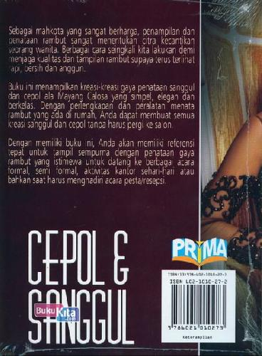 Cover Belakang Buku Cepol&Sanggul Cantik, Praktis&Elegan Untuk Segala Acara
