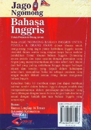 Cover Belakang Buku Jago Ngomong Bahasa Inggris Untuk Pemula & Orang Awam