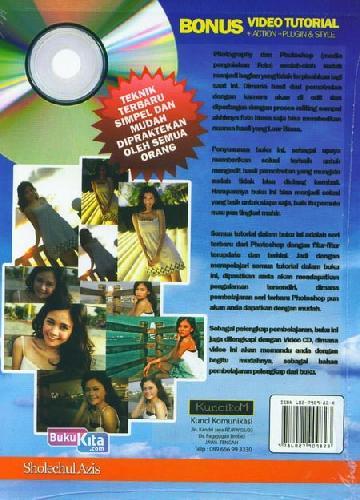 Cover Belakang Buku Photoshop For Mastering Photography+Cd