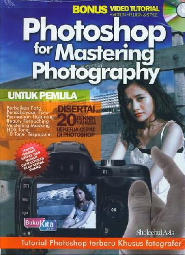 Cover Buku Photoshop For Mastering Photography+Cd