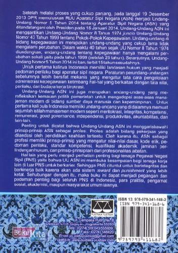 Cover Belakang Buku Undang-undang Nomor 5 Tahun 2014 Tentang Aparatur Sipil Negara