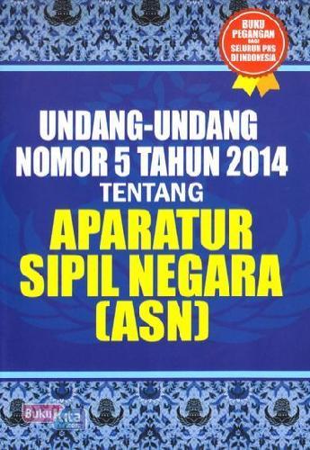 Cover Buku Undang-undang Nomor 5 Tahun 2014 Tentang Aparatur Sipil Negara
