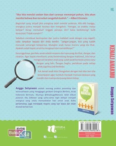 Cover Belakang Buku Kenali Anakmu
