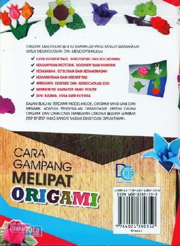 Cover Belakang Buku Cara Gampang Melipat Origami 5 Menit Langsung Bisa