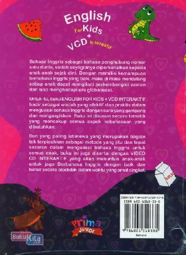 Cover Belakang Buku English For Kids + Cd